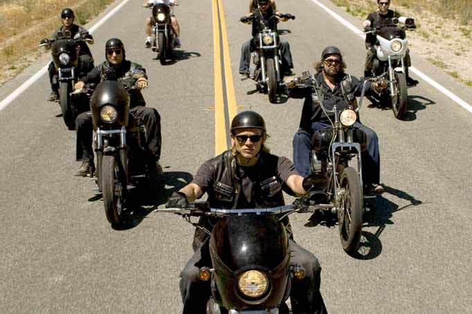 Sons of anarchy Harley Ride