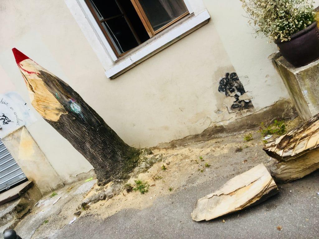 Street art arbre