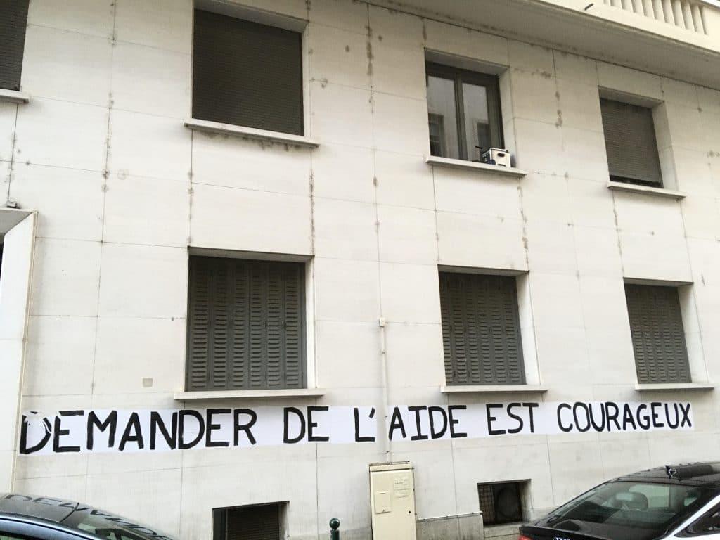 Street art : demander de l'aide est courageux
