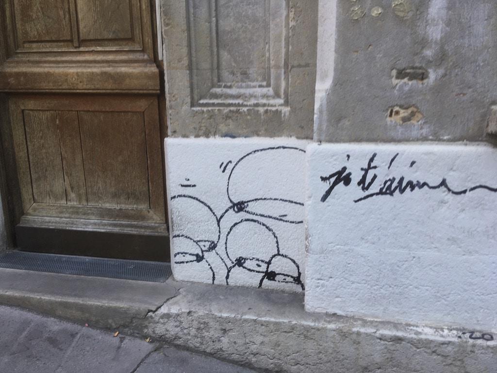 Street Art Lyon : message d'amour